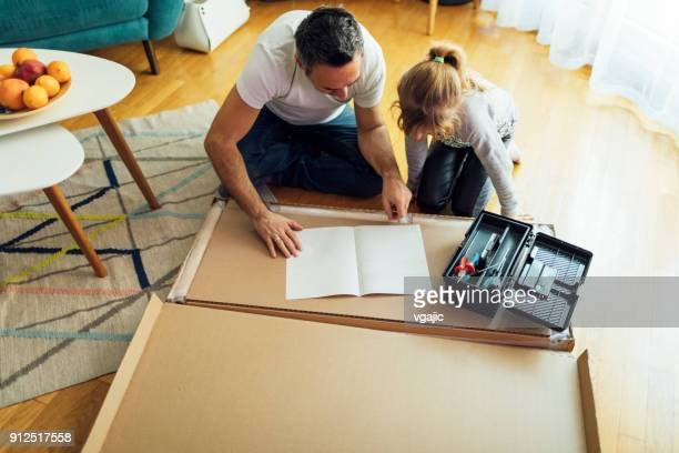 family diy - instructions stock pictures, royalty-free photos & images