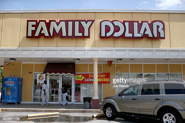 Family Dollar store is seen on July 28 2014 in Hallandale Florida Dollar Tree announced it will buy Family Dollar Stores for about $85 billion in...