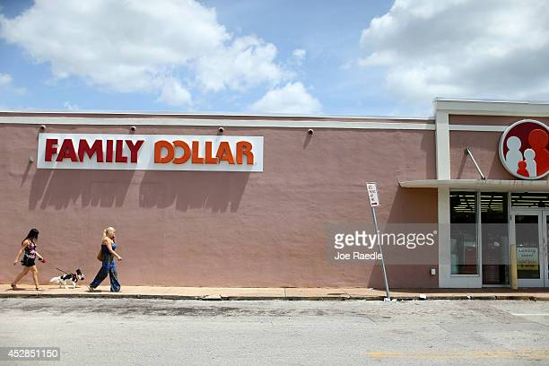 Family Dollar store is seen on July 28 2014 in Hollywood Florida Dollar Tree announced it will buy Family Dollar Stores for about $85 billion in cash...