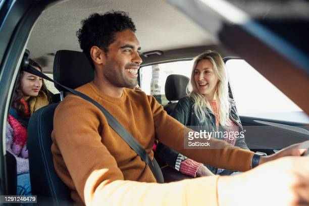 family drive - car stock pictures, royalty-free photos & images
