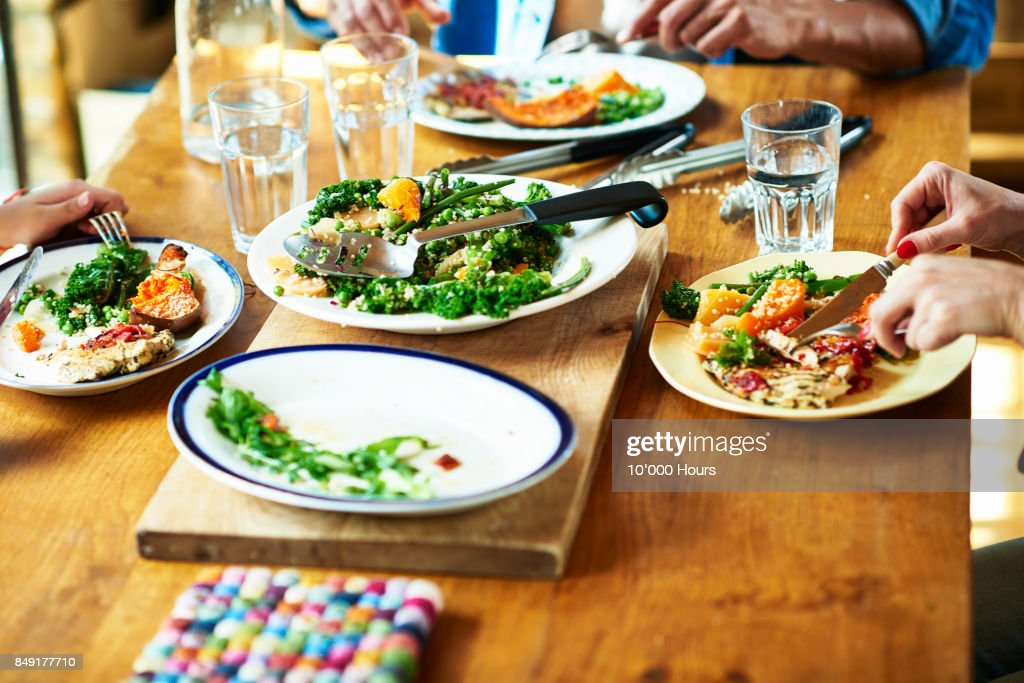Family eating lunch : Stock Photo