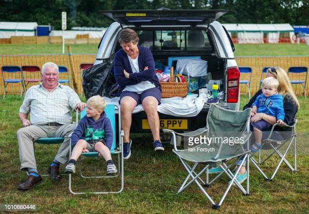 A family enjoy the day during 152nd the Ryedale Country Show on July 31 2018 in Kirbymoorside England Held in Welburn Park near Kirbymoorside in...