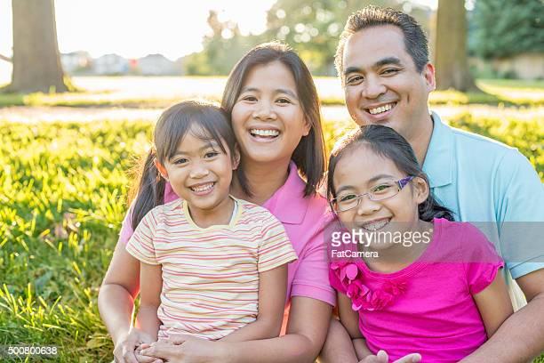 Family Enjoying a Sunny Day
