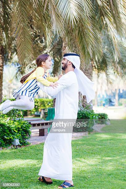 Family enjoying an afternoon outdoors in Dubai