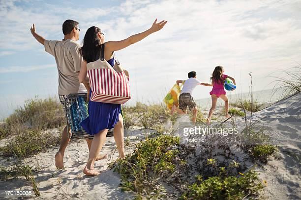 Family Enjoying Beach Vacation