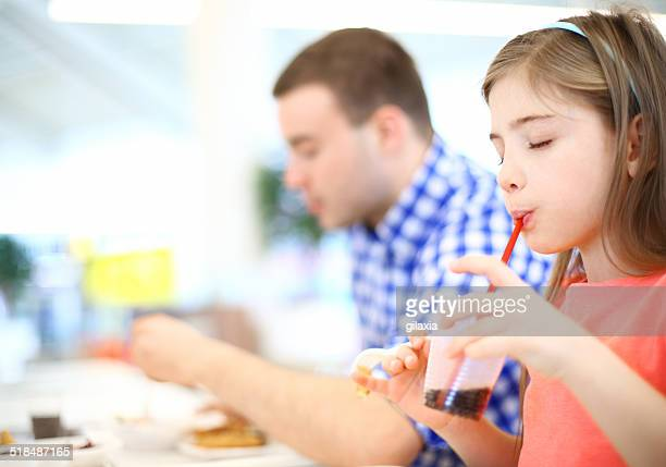 Family enjoying lunch.
