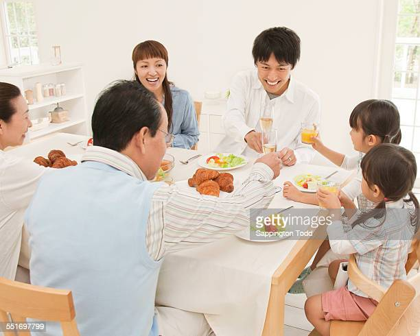 Family Enjoying Meal