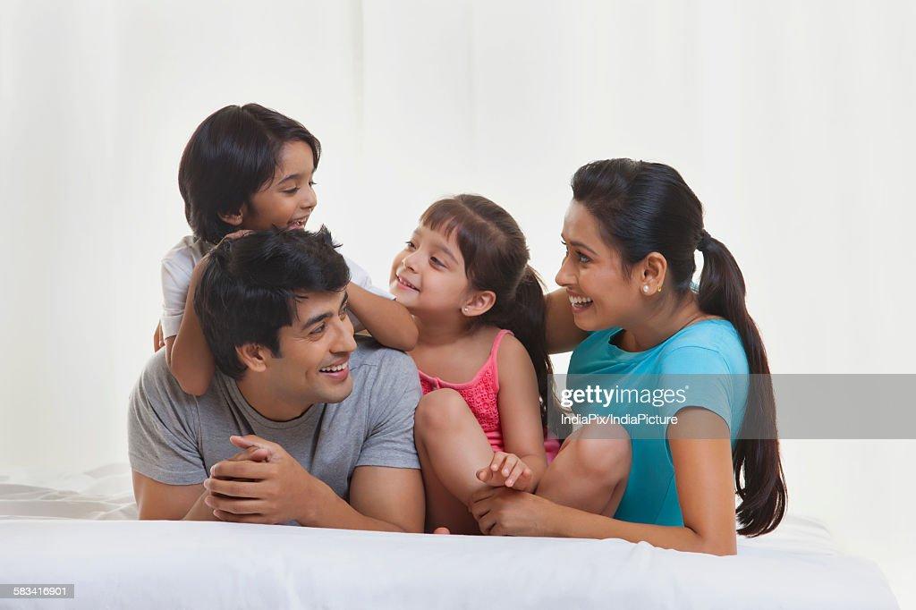 Family enjoying : Stock Photo
