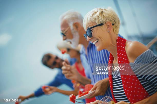 family enjoying summer vacation. - cruise vacation stock pictures, royalty-free photos & images