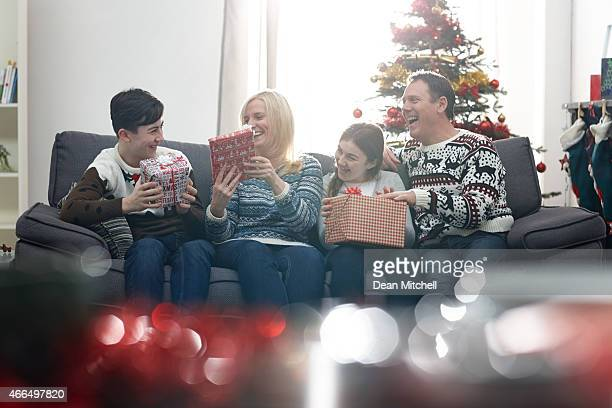 Family enjoying the Christmas time