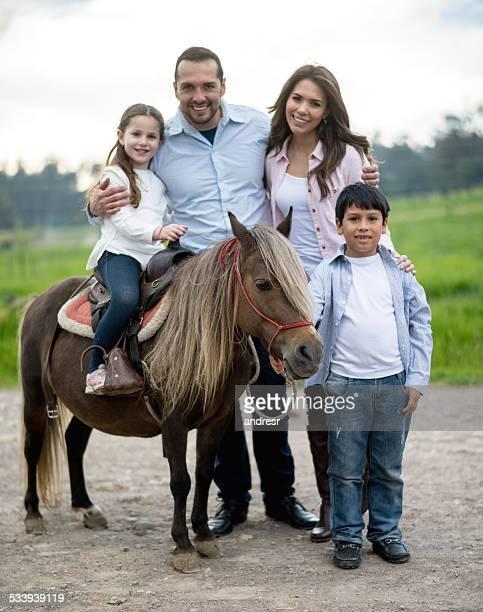Family enjoying the countryside