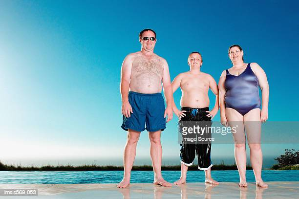family enjoying the summer - chubby boy stock photos and pictures
