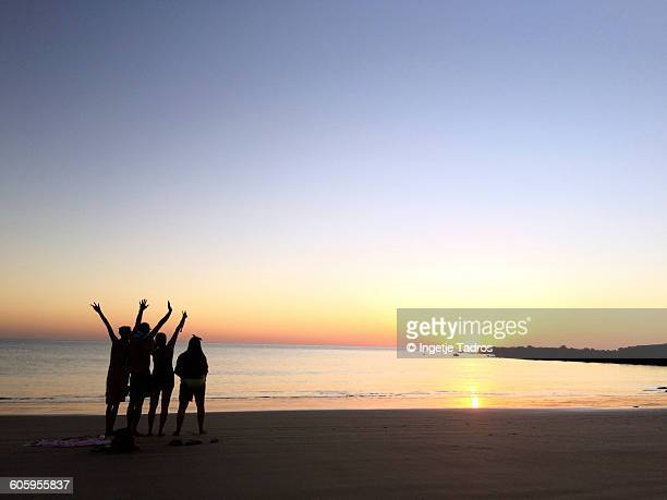Family enjoying the sunset at Cape Leveque