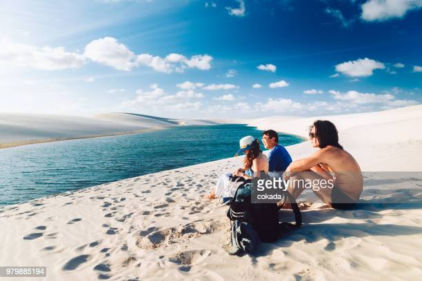 family enjoying vacations - maranhao state stock pictures, royalty-free photos & images