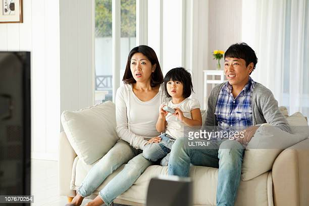 Family enthuses about television