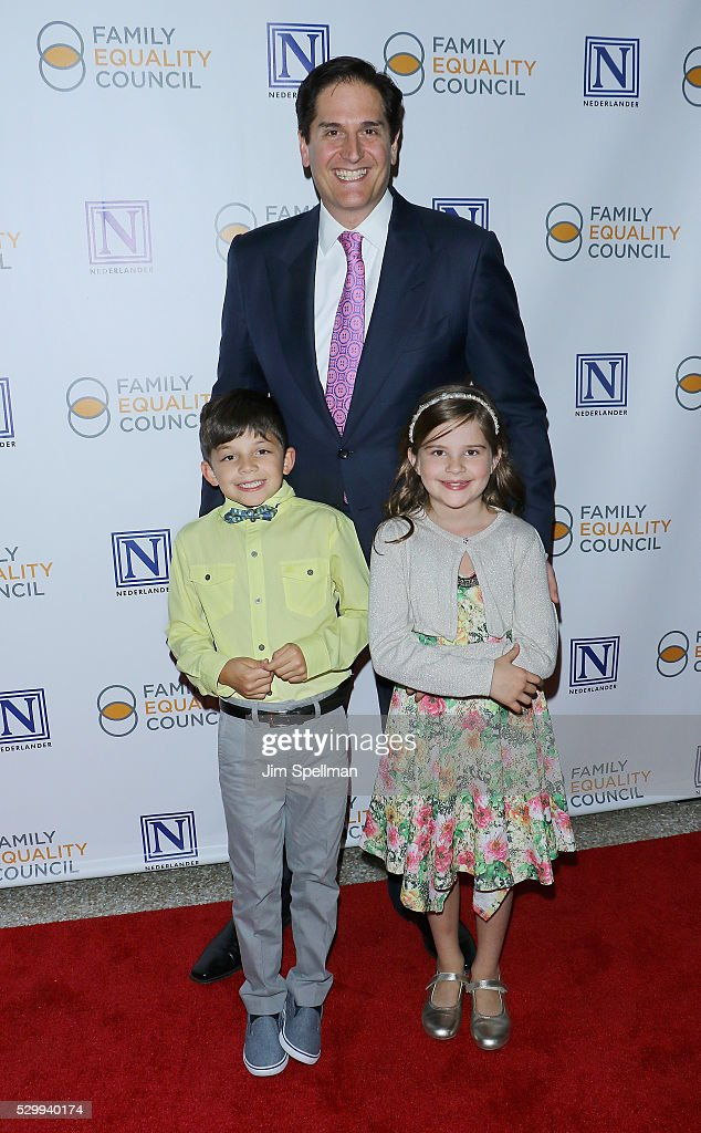 Family Equality Council board treasurer Nick Scandalios and family attend the 11th Annual Family Equality Council Night at the Pier at Pier 60 on May 9, 2016 in New York City.