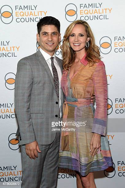 Family Equality Council's Executive Director Gabriel Blau and singer Chely Wright attend the Family Equality Council's 2015 Night At The Pier at Pier...