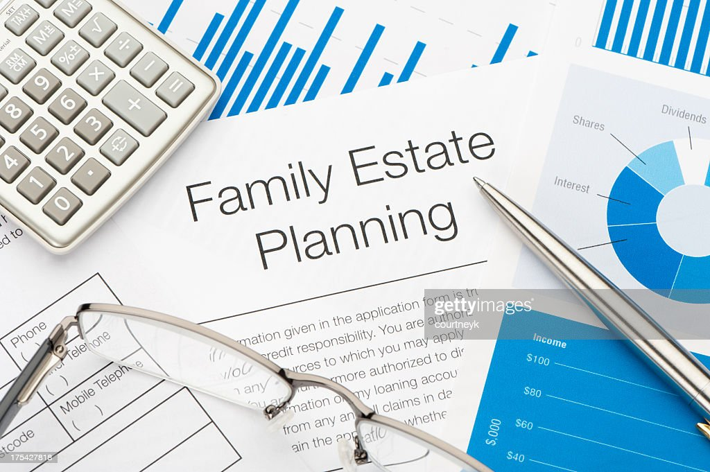 Family Estate planning document : Stock Photo