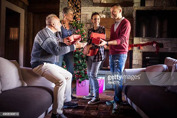Family exchange Christmas gifts