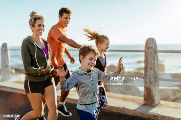 Family exercising