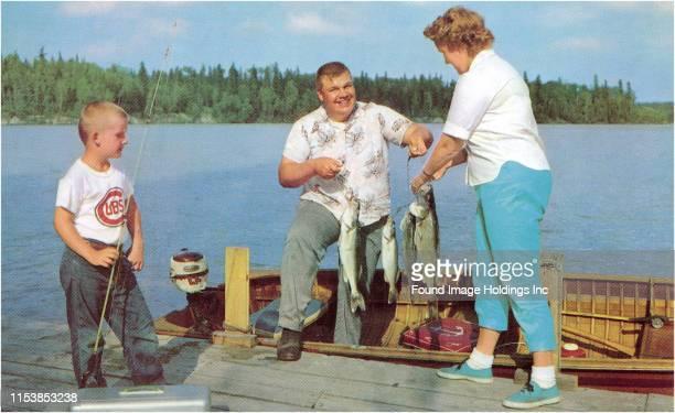 Family Fishing on Midwestern Lake