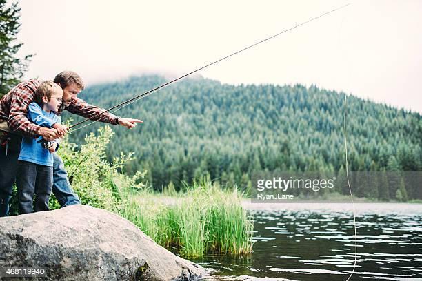 Viaje de pesca en familia