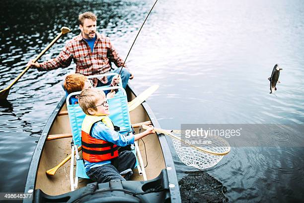 family fishing trip - trout stock pictures, royalty-free photos & images