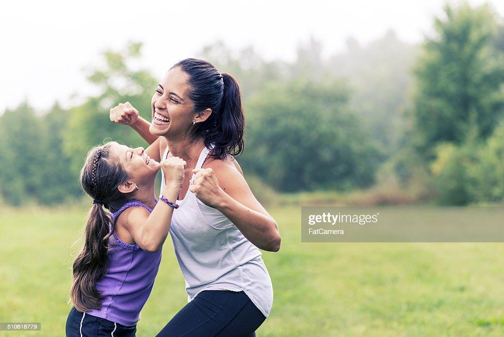Family fitness : Stock Photo