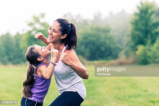 family fitness - exercising stock pictures, royalty-free photos & images