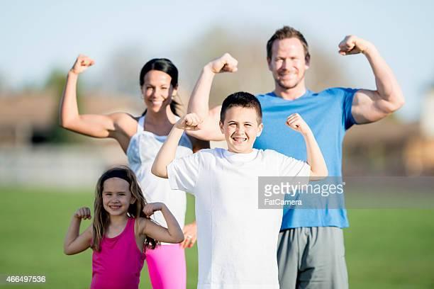 Familia flexión para cámara