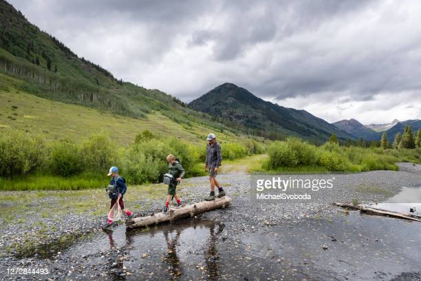 family fly fishing adventure - colorado stock pictures, royalty-free photos & images