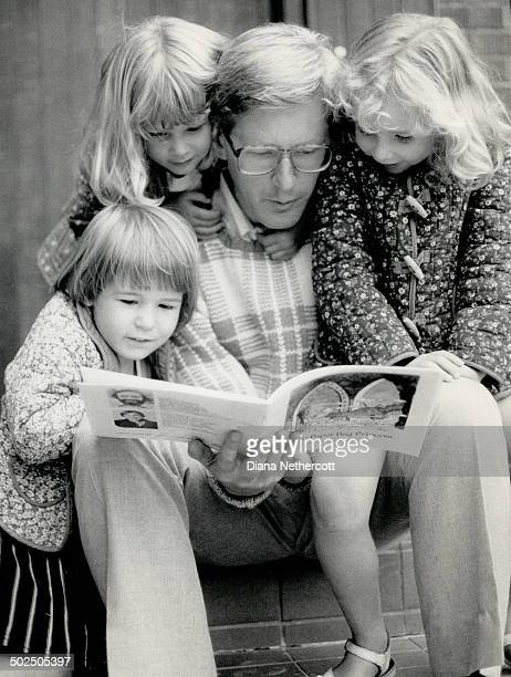 Family fold New Democrat leader Bob Rae relaxes with his daughters Eleanor 2 left front Lisa 4 and Judith 6 He dislikes spending time away from his...
