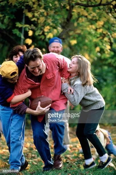 Family football game