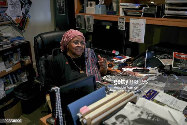 A family friend of Malcolm X and the founder and the president of 'Women in Islam' Aisha Al Adawiya speaks about Malcolm X during an exclusive...