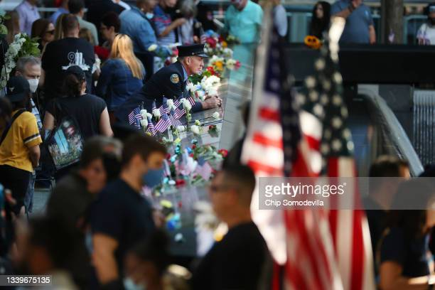 Family, friends and colleagues of those killed in the 9/11 and the 1993 bombing terror attacks participate in the annual commemoration ceremony at...