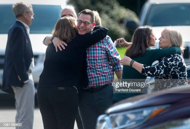 Family friends and the Cheshire High School community gather at AldersonFord Funeral Homes Inc on Oct 9 2018 for the wake for Megumi Yamamoto the...