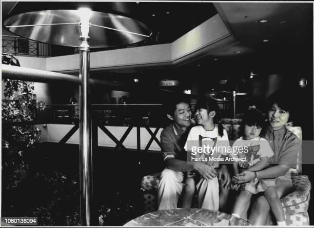 Family from Osaka Japan... In Australia - Mr. Toshihiro Togaya 39, Miss Yuka Togaya 5, Miss Yuki Togaya 3, and Mrs. Masayo Togaya 30.Toshi Togaya and...