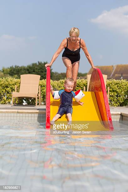 family fun and games by the pool - s0ulsurfing stock pictures, royalty-free photos & images