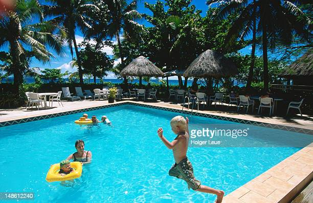 Family fun in the pool, Treasure Island Resort, Treasure Island.