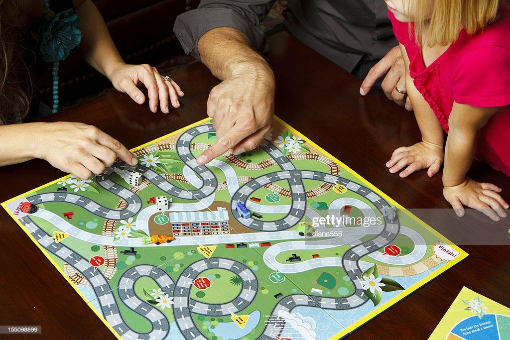 Family Game Night : Stock Photo