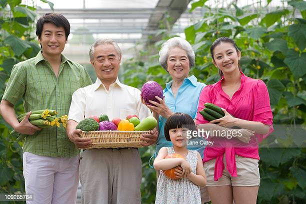 Family gardening in modern farm
