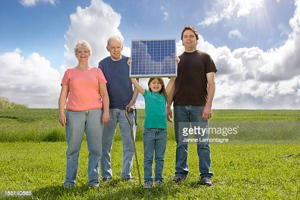 Family generations with Solar Panel