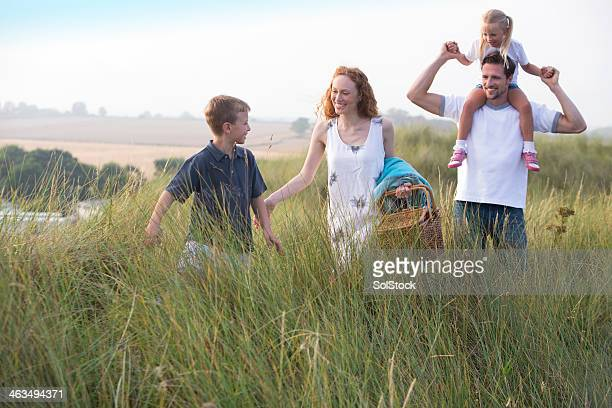 Family Going for a Picnic