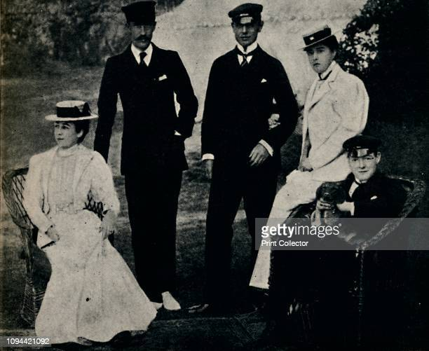 Family Group at Cowes', early 1890s, . Group portrait of the Churchill family at Cowes on the Isle of Wight. On the right is British politician and...