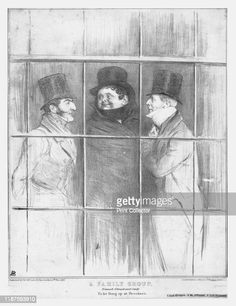 Family Group, framed, glazed and ready to be hung up at Brookes's', 1835. 'Lord Ebrington' - British politician Hugh Fortescue, 2nd Earl Fortescue ;...