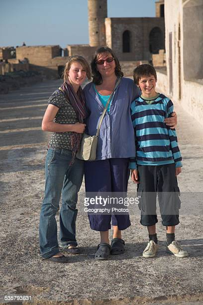 Family group on holiday in Morocco, north Africa,.
