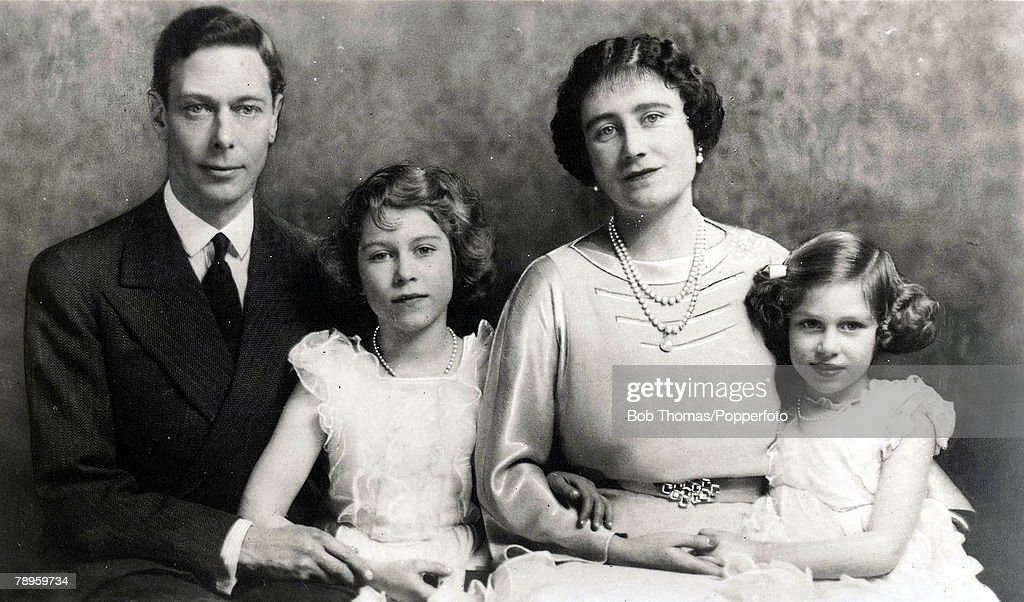1937, A family group shows King George VI and Queen Elizabeth with ...