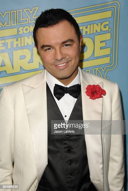 Family Guy creator Seth MacFarlane attends the 'Family Guy Something Something Something Dark Side' DVD release party on December 12 2009 in Beverly...