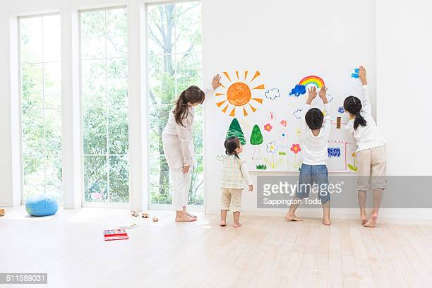 Family Hanging Drawing On Wall