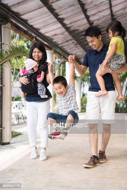 Familie, die Spaß